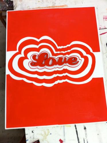 LOVE _ RED _ CHRISTOPHE VIOLLAND _ ACRYLIQUE _ 100cm_80cm