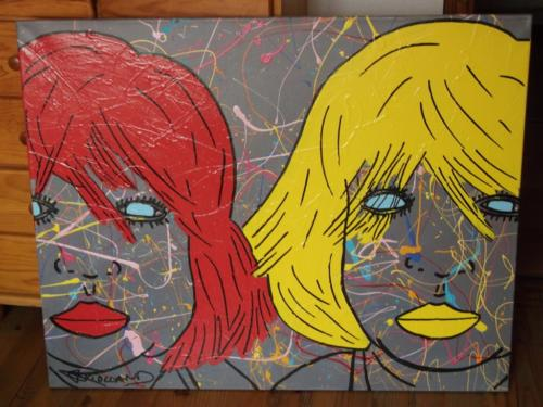 TOM _ RED YELLOW _ CHRISTOPHE VIOLLAND _ ACRYLIQUE _ 100cm_80cm